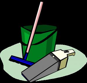 Bucket, mop, dust buster