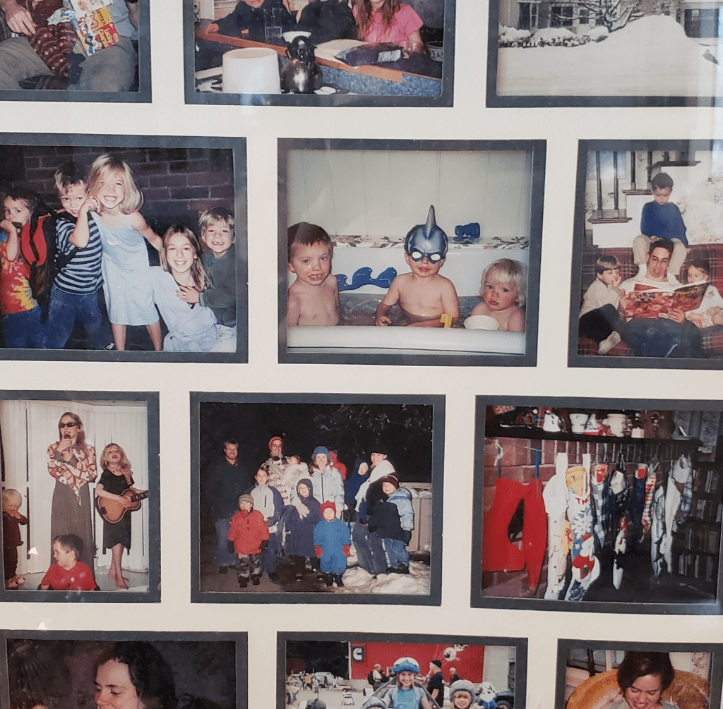 Photos of Rob's Family Sharing a Home