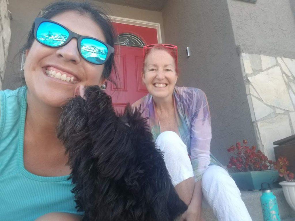 Christina and housemate